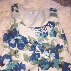 LOFT Dresses - Ann Taylor loft watercolor floral beaded dress